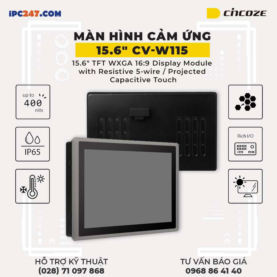Man hinh cam ung Cincoze CV-w115